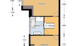 Plattegrond 2e verdieping